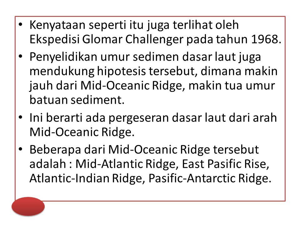 Kenyataan seperti itu juga terlihat oleh Ekspedisi Glomar Challenger pada tahun 1968.