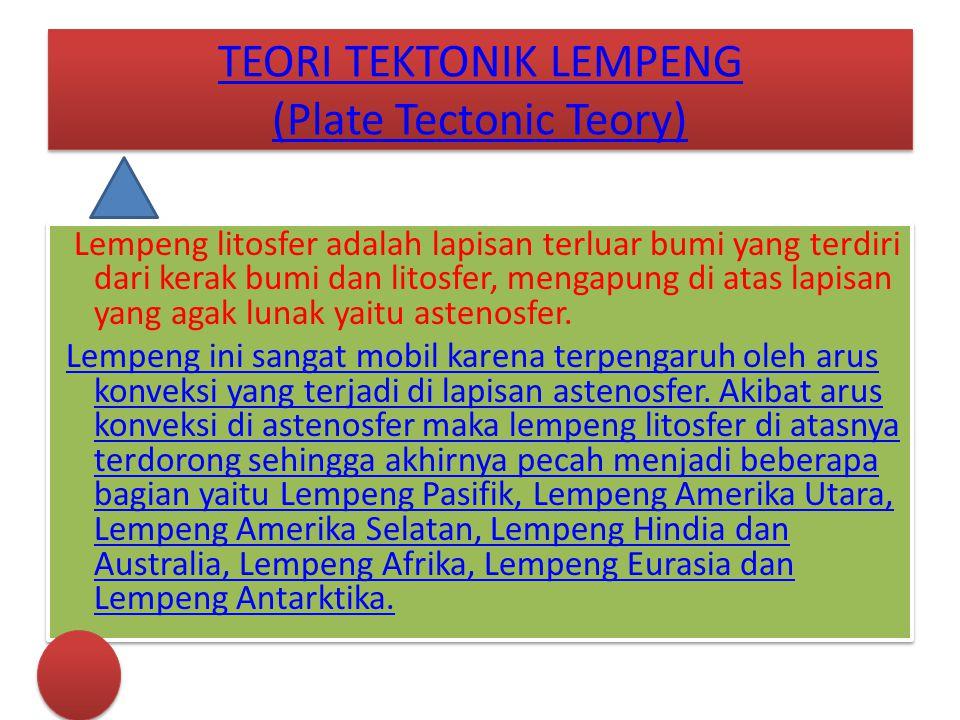 TEORI TEKTONIK LEMPENG (Plate Tectonic Teory)