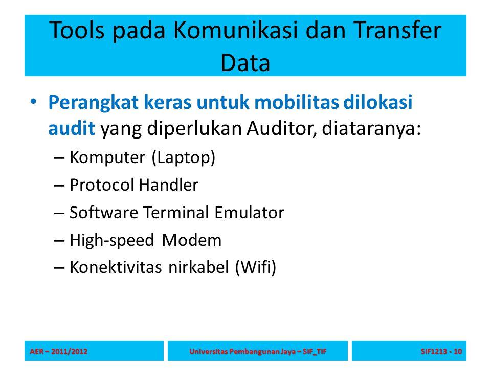 Tools pada Komunikasi dan Transfer Data