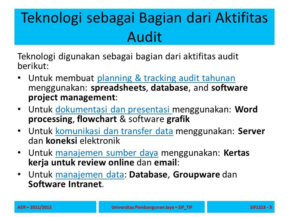 Teknologi sebagai Bagian dari Aktifitas Audit