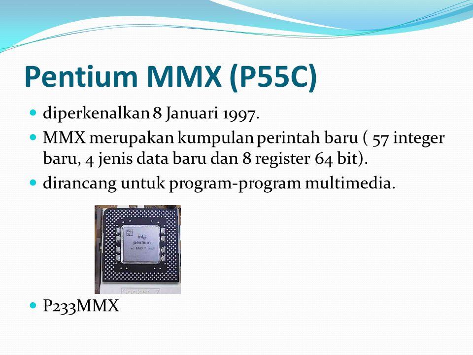 Pentium MMX (P55C) diperkenalkan 8 Januari 1997.