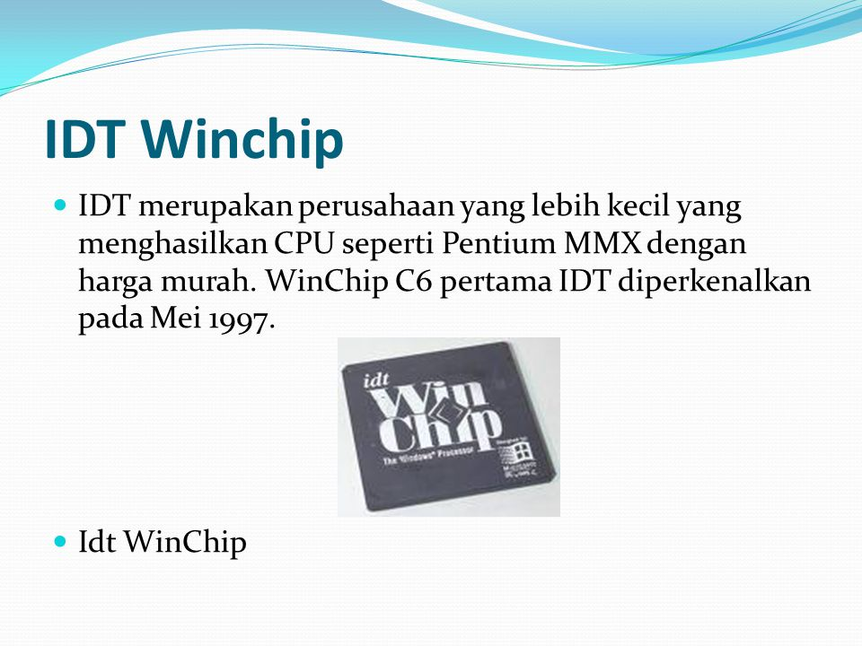 IDT Winchip