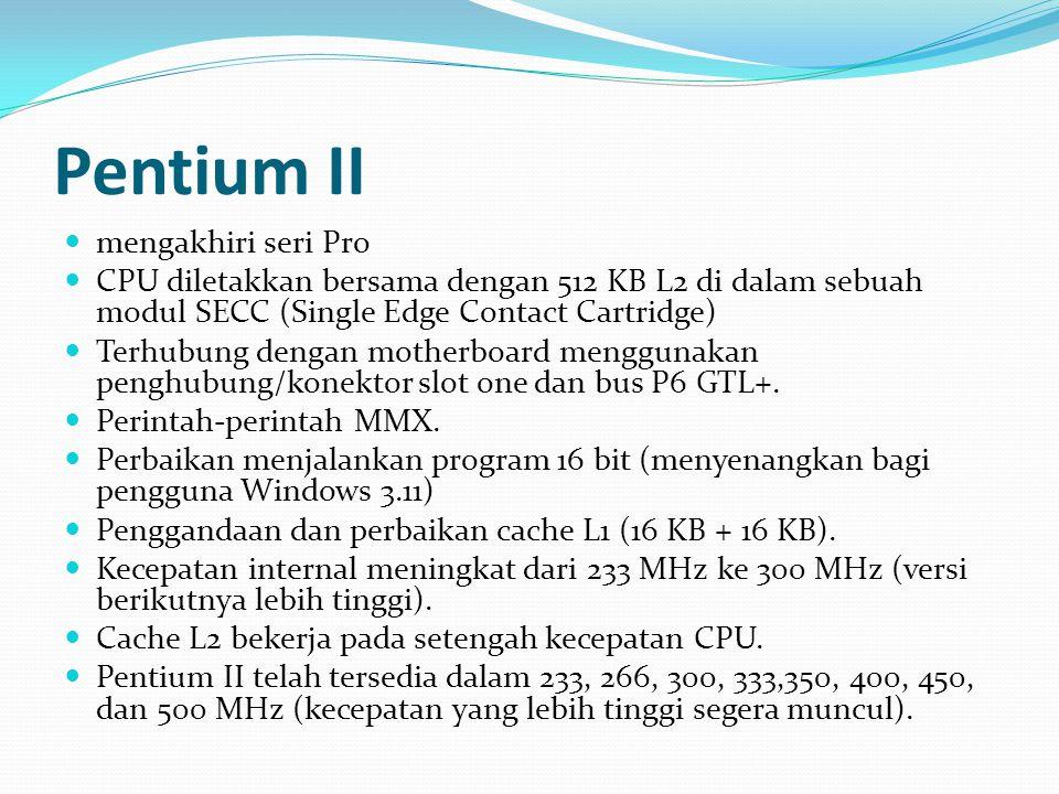 Pentium II mengakhiri seri Pro