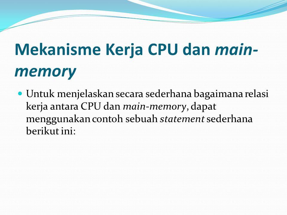 Mekanisme Kerja CPU dan main-memory