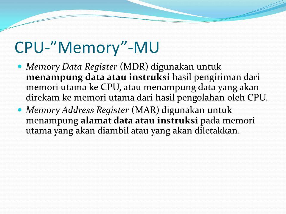 CPU- Memory -MU