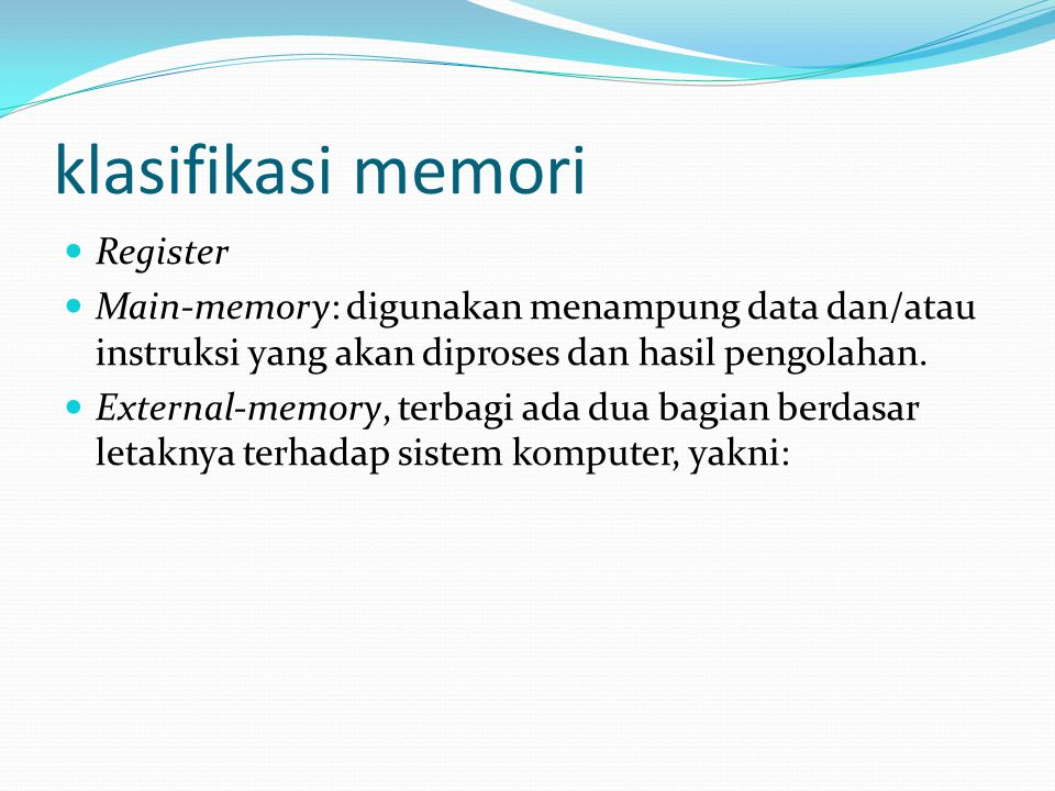 klasifikasi memori Register