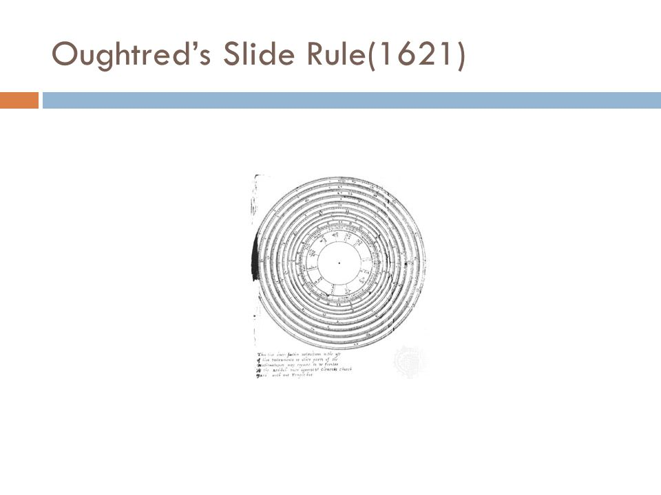 Oughtred's Slide Rule(1621)