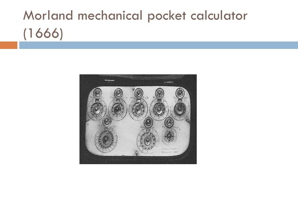 Morland mechanical pocket calculator (1666)