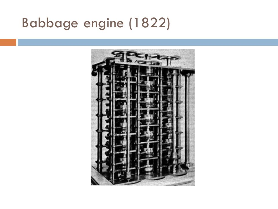 Babbage engine (1822)