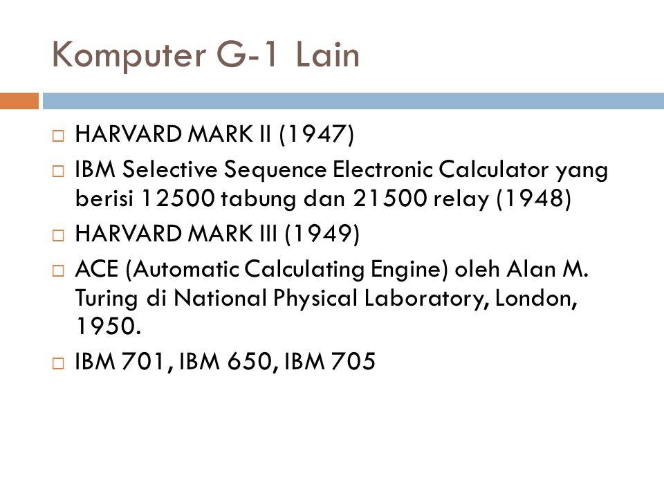Komputer G-1 Lain HARVARD MARK II (1947)