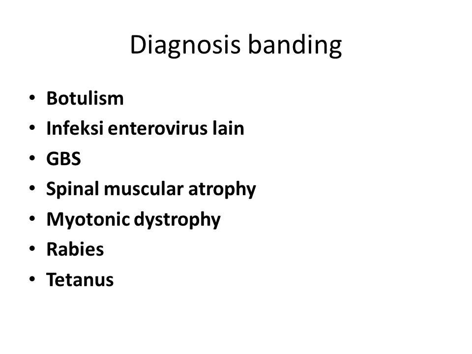 Diagnosis banding Botulism Infeksi enterovirus lain GBS