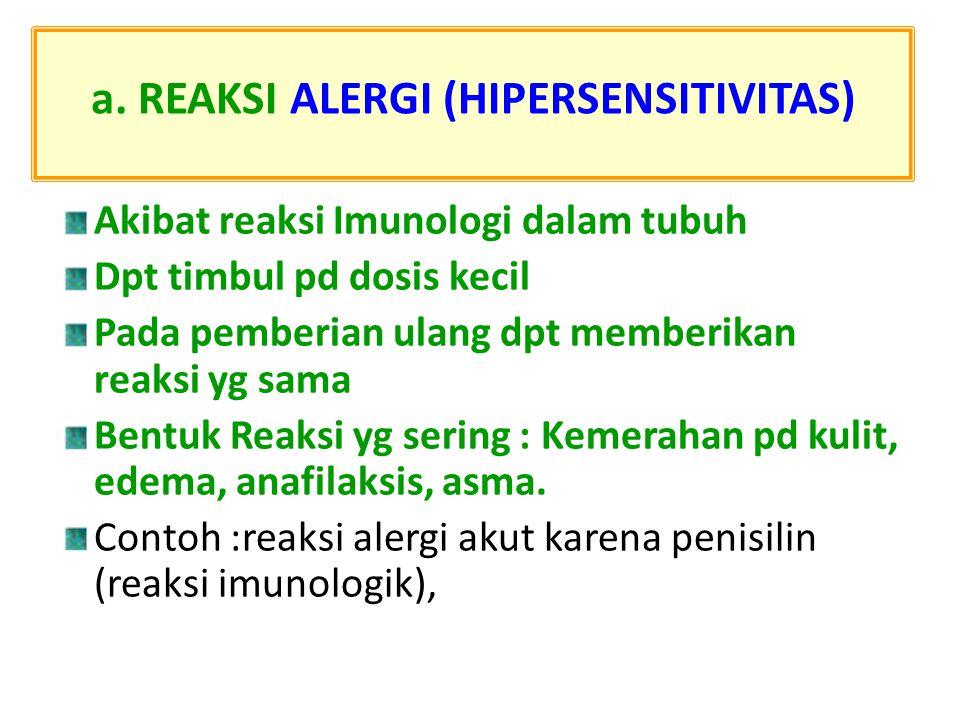 a. REAKSI ALERGI (HIPERSENSITIVITAS)