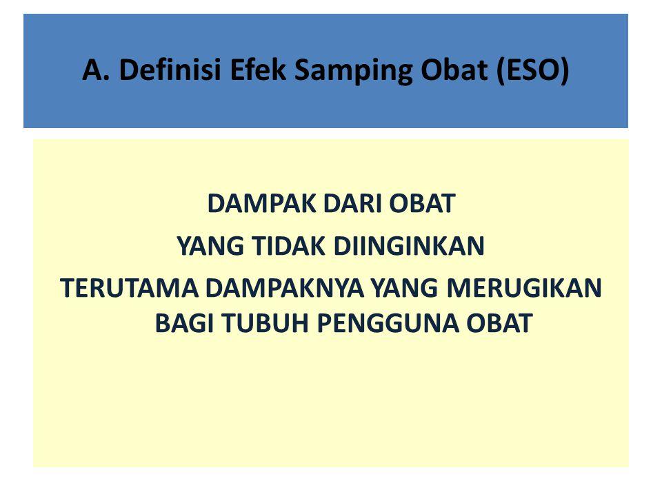 A. Definisi Efek Samping Obat (ESO)