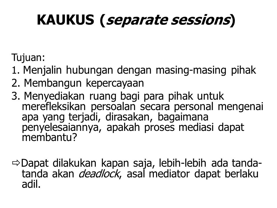 KAUKUS (separate sessions)