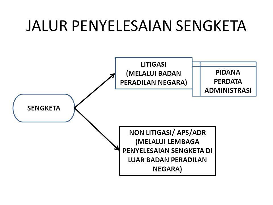 JALUR PENYELESAIAN SENGKETA