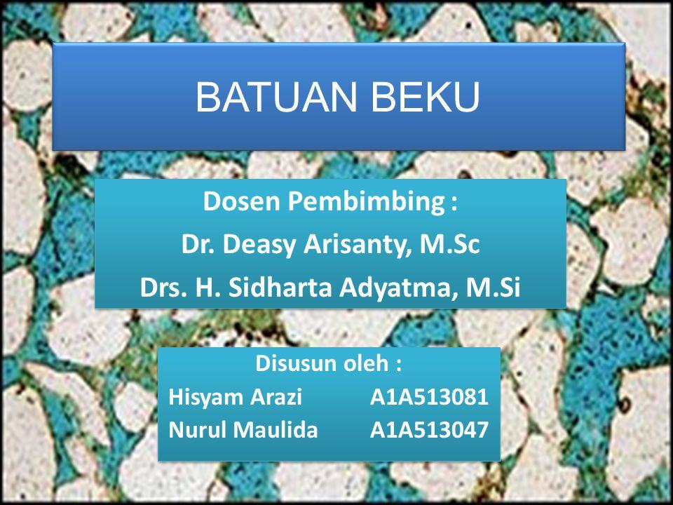 Drs. H. Sidharta Adyatma, M.Si