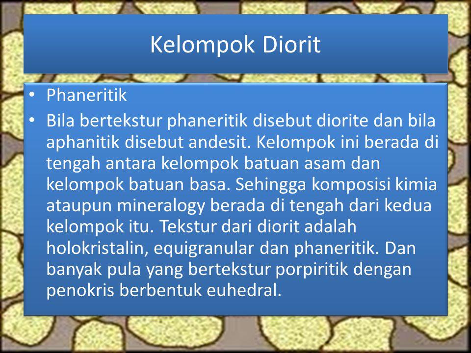 Kelompok Diorit Phaneritik