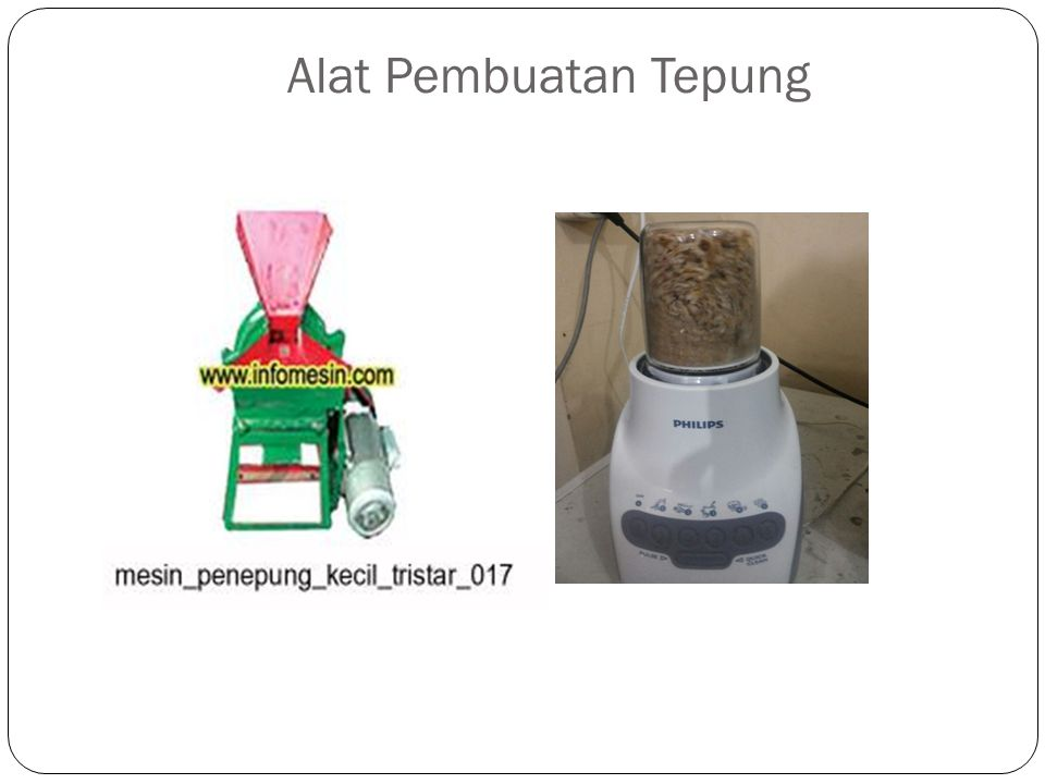 Alat Pembuatan Tepung