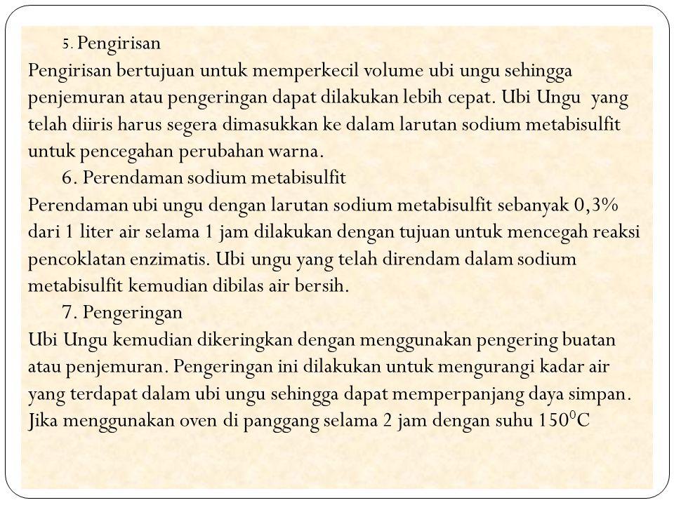 6. Perendaman sodium metabisulfit
