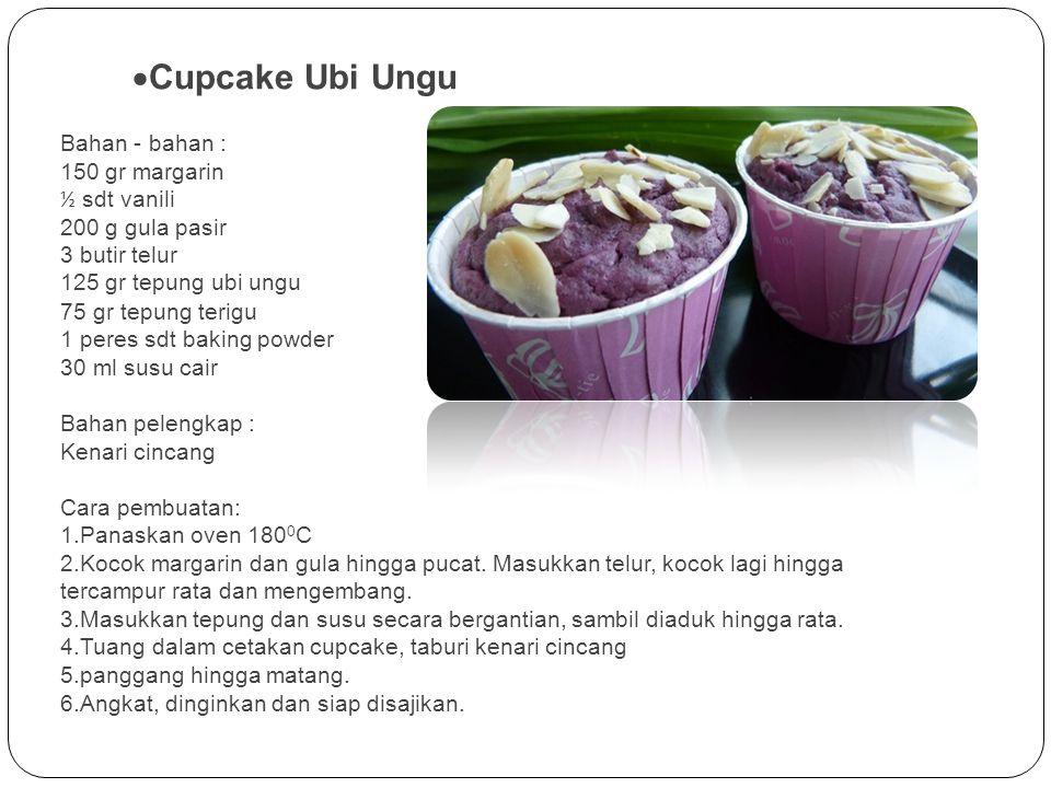 Cupcake Ubi Ungu 150 gr margarin