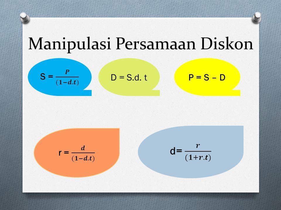 Manipulasi Persamaan Diskon