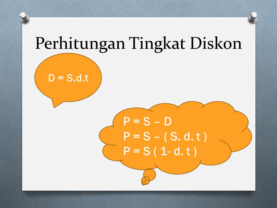 Perhitungan Tingkat Diskon