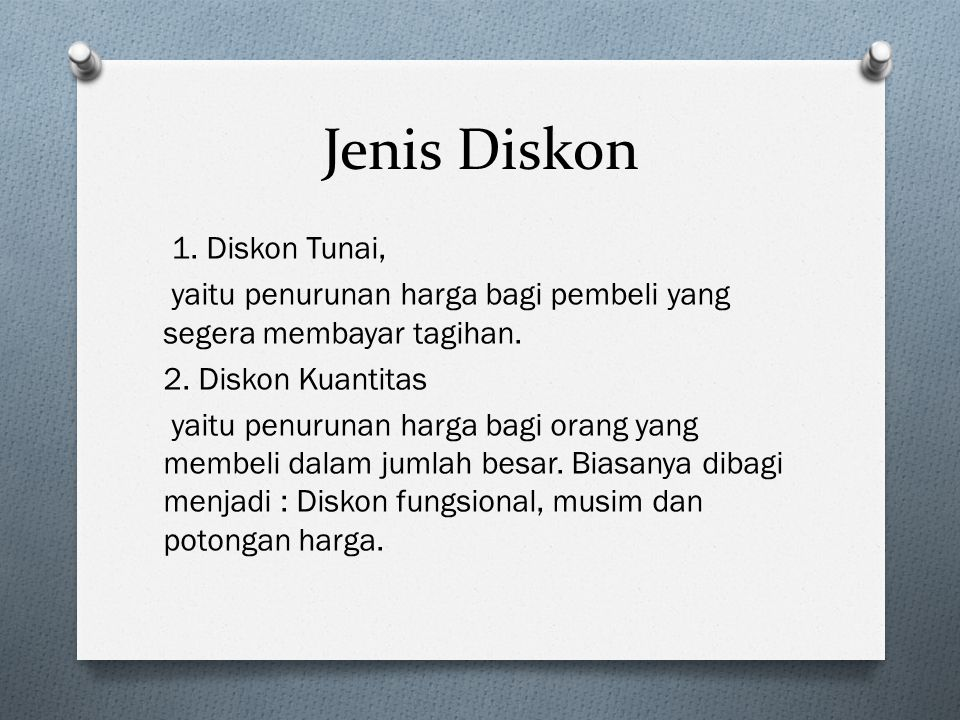 Jenis Diskon