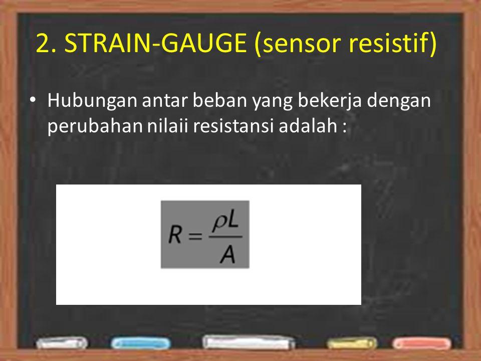 2. STRAIN-GAUGE (sensor resistif)