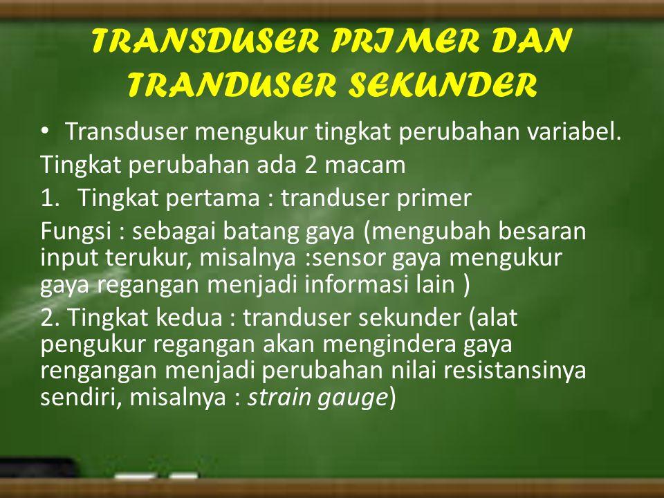 TRANSDUSER PRIMER DAN TRANDUSER SEKUNDER