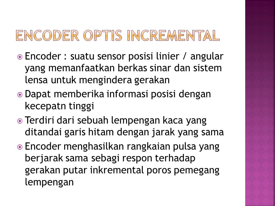 ENCODER OPTIS INCREMENTAL