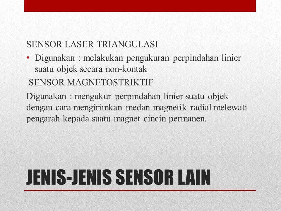 JENIS-JENIS SENSOR LAIN