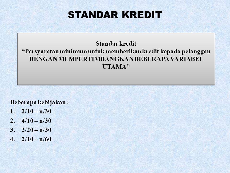 STANDAR KREDIT Standar kredit