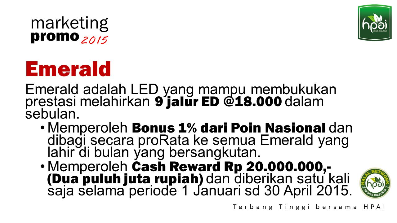 Emerald marketing promo