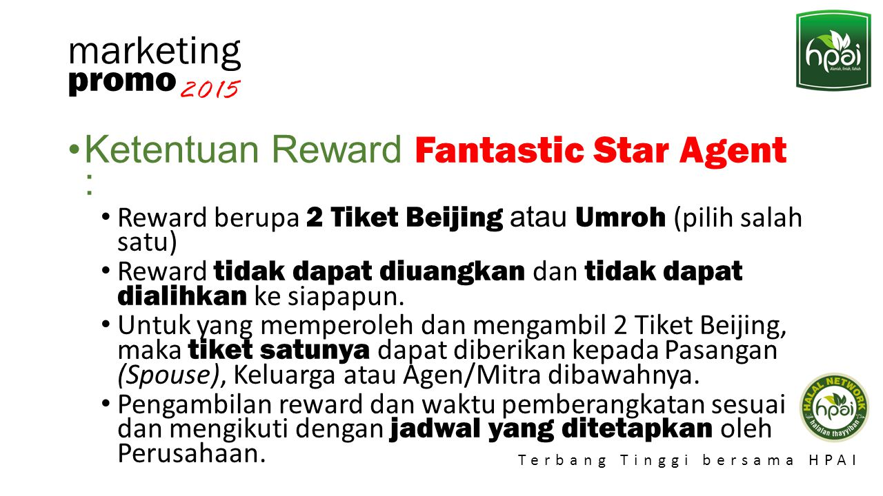marketing Ketentuan Reward Fantastic Star Agent : promo 2015