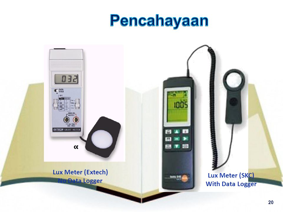Pencahayaan Lux Meter (Extech) Lux Meter (SKC) No Data Logger