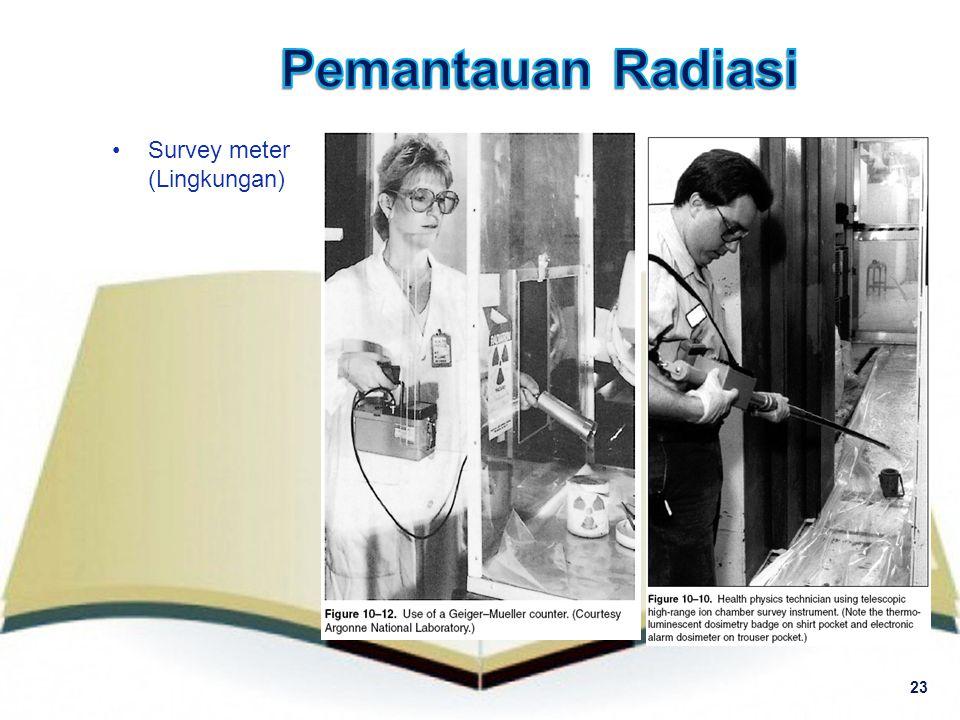 Pemantauan Radiasi Survey meter (Lingkungan) 23