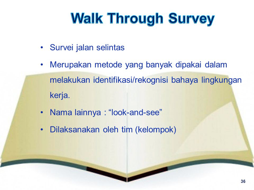 Walk Through Survey Survei jalan selintas