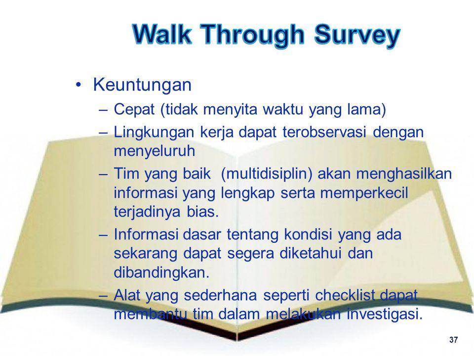 Walk Through Survey Keuntungan Cepat (tidak menyita waktu yang lama)