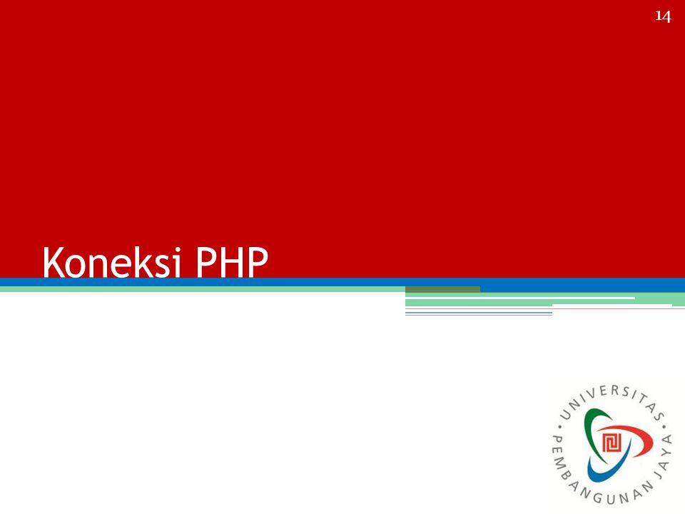 Koneksi PHP