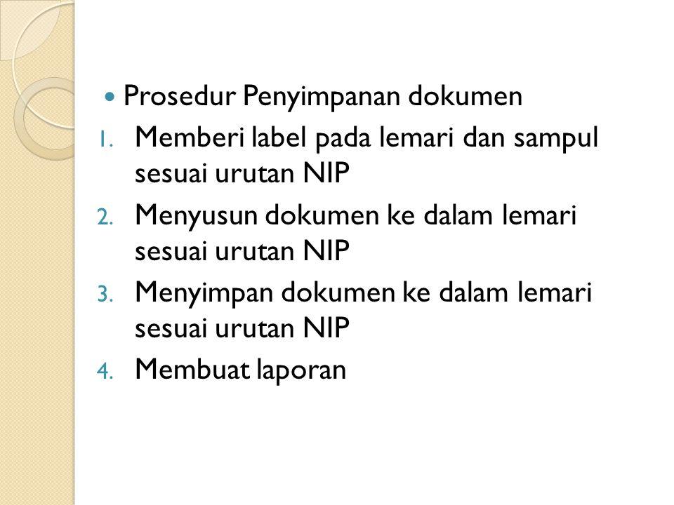Prosedur Penyimpanan dokumen