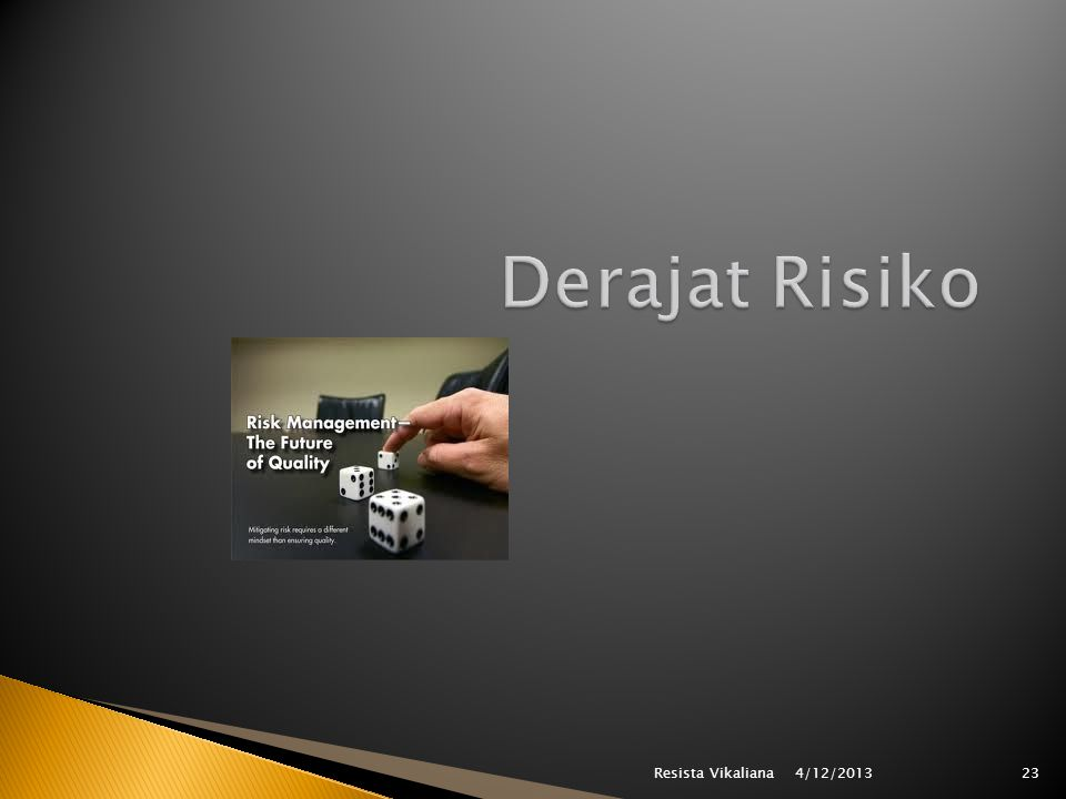 Derajat Risiko Resista Vikaliana 4/12/2013