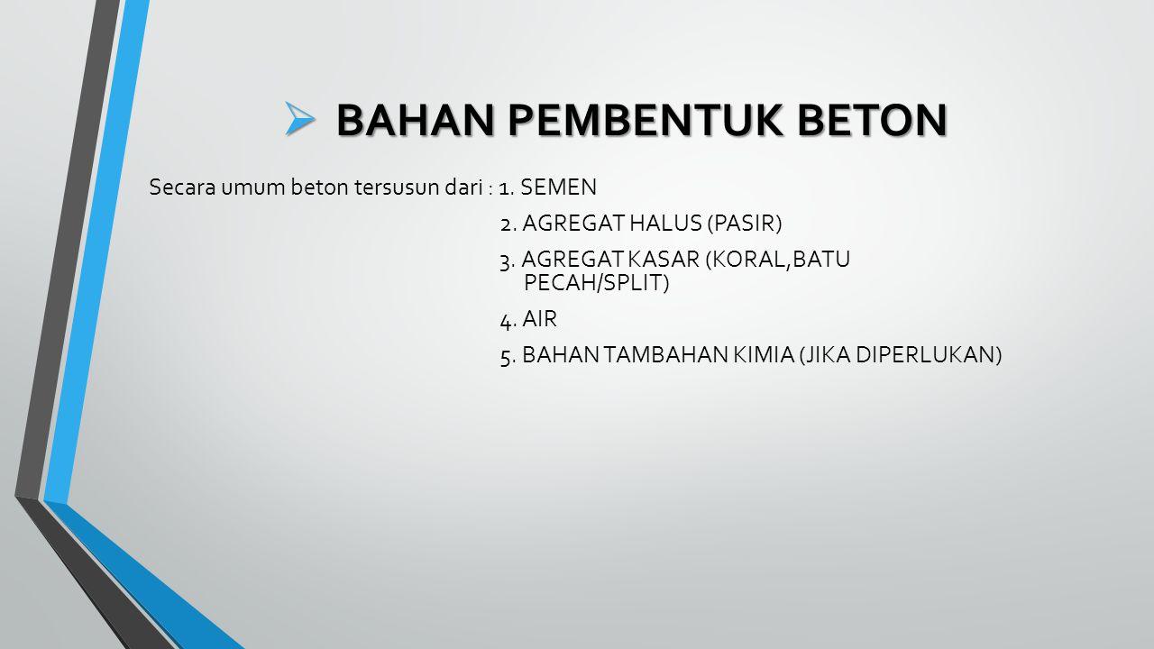 BAHAN PEMBENTUK BETON