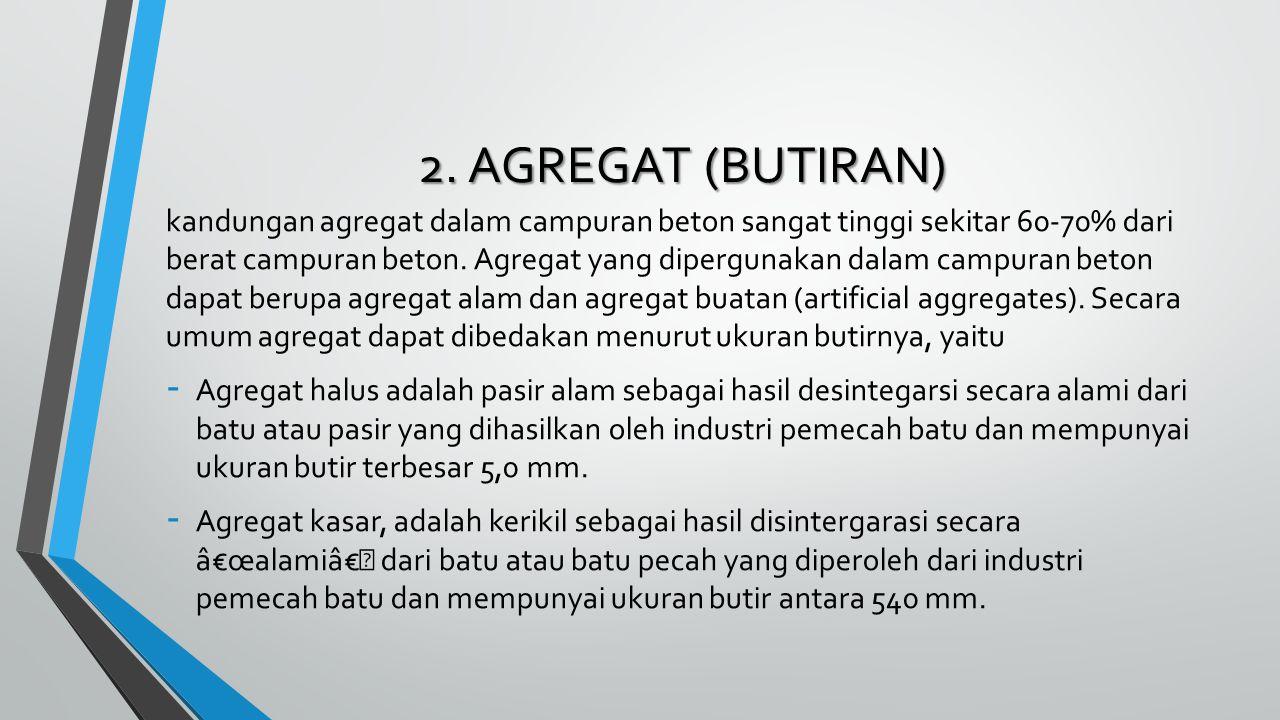 2. AGREGAT (BUTIRAN)