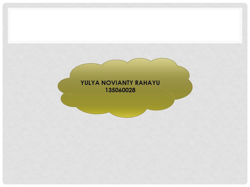 YULYA NOVIANTY RAHAYU 135060028