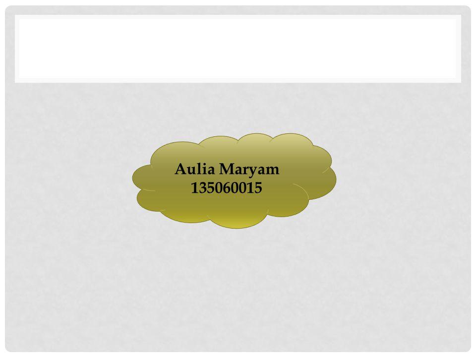 Aulia Maryam 135060015