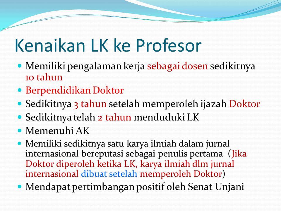 Kenaikan LK ke Profesor