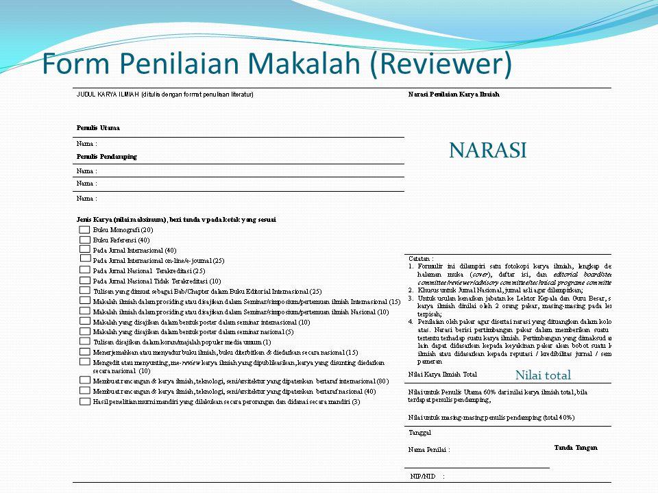 Form Penilaian Makalah (Reviewer)