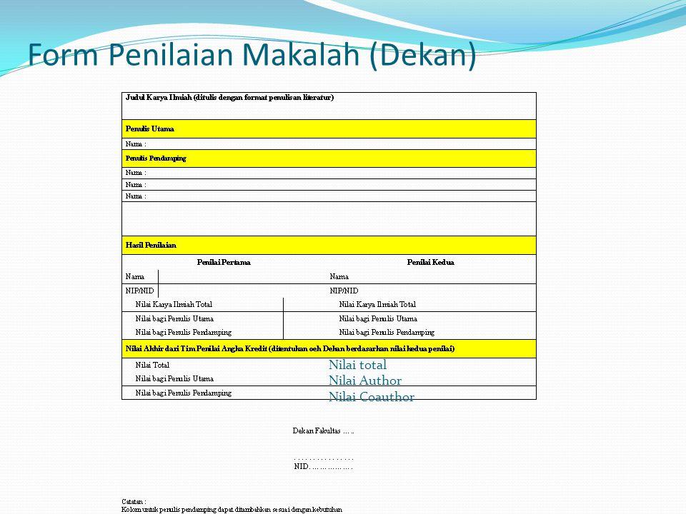 Form Penilaian Makalah (Dekan)