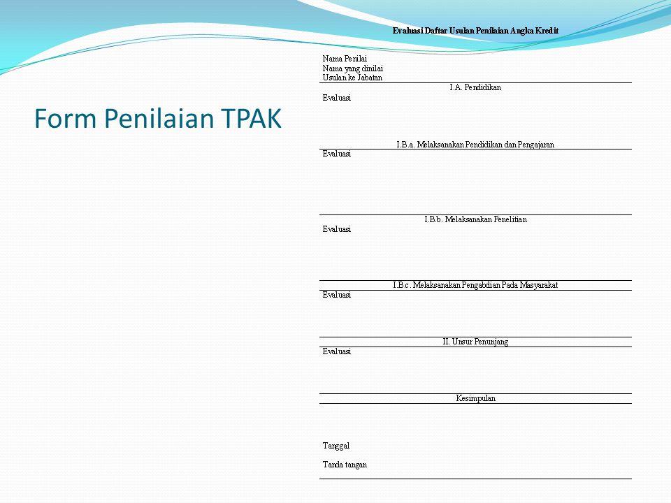 Form Penilaian TPAK