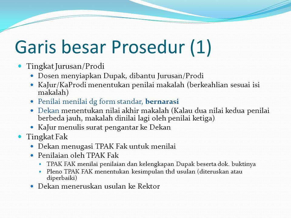 Garis besar Prosedur (1)